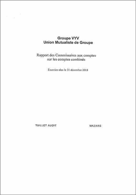 Rapport des commissaires aux comptes – comptes combinés – Groupe VYV