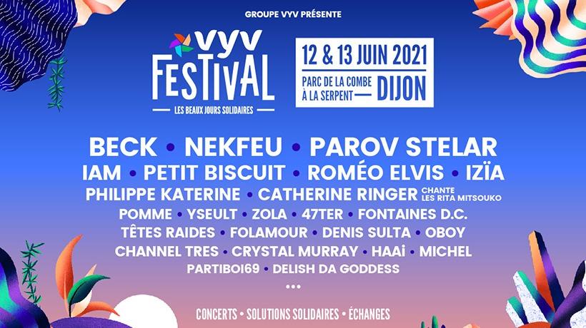 VYV Festival dévoile les artistes de l'édition 2021